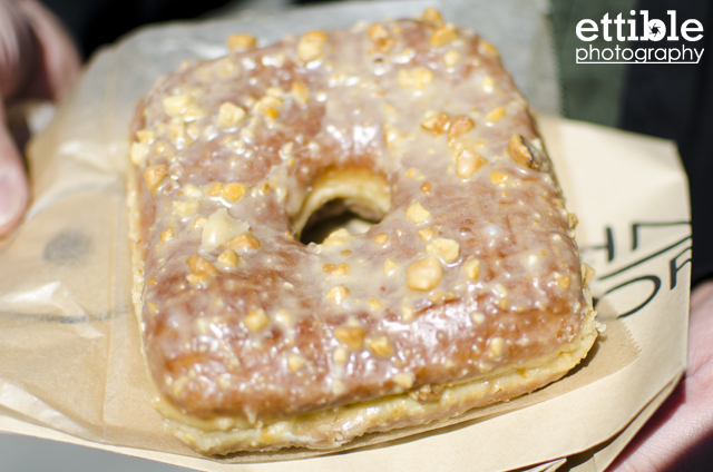 Doughnut Plant NYC Peanut Butter and Banana Square Doughnut
