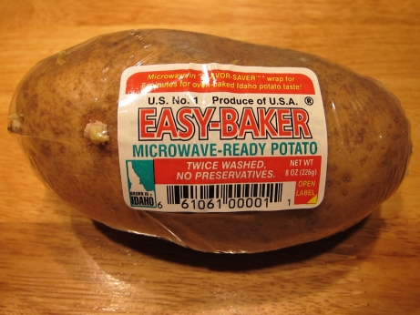 how to cook a whole potato in the microwave
